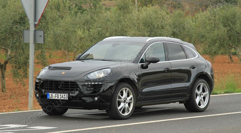 porsche macan 2014 latest spy shots of 39 mini cayenne 39 by car magazine. Black Bedroom Furniture Sets. Home Design Ideas