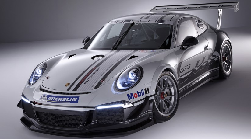 Porsche 991 gt3 cup 2013 the new racer revealed car magazine 991 gt3 cup cars rear wider tracks dront and rear house slick tyres publicscrutiny Choice Image