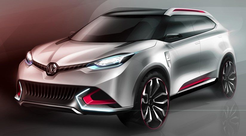 MG CS crossover concept (2013) first official pictures by CAR Magazine