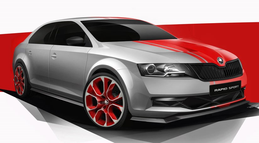 Skoda Rapid Sport Concept 2013 First Official Pictures Car Magazine