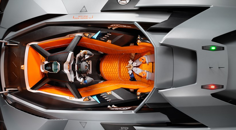 Lamborghini Egoista 2013 First Official Pictures Car Magazine