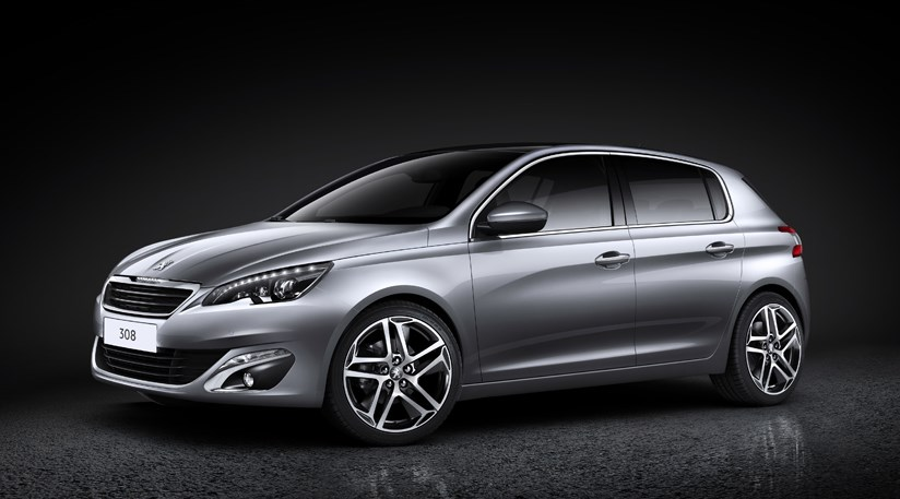 peugeot 308 (2014) first pictures of peugeot's new focus-fighter