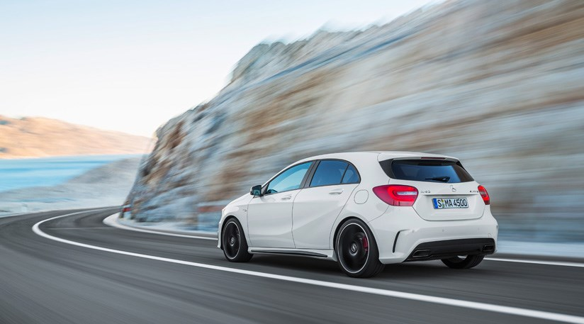 Mercedes a45 amg 2013 review by car magazine for Mercedes benz leasing company address