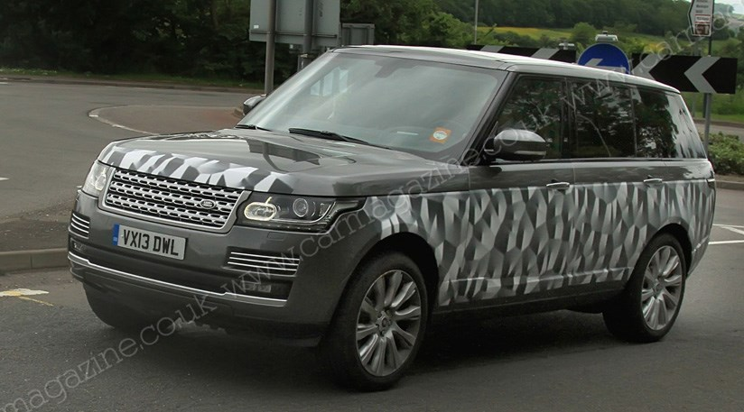 range rover long wheelbase 2013 spy shots car magazine. Black Bedroom Furniture Sets. Home Design Ideas