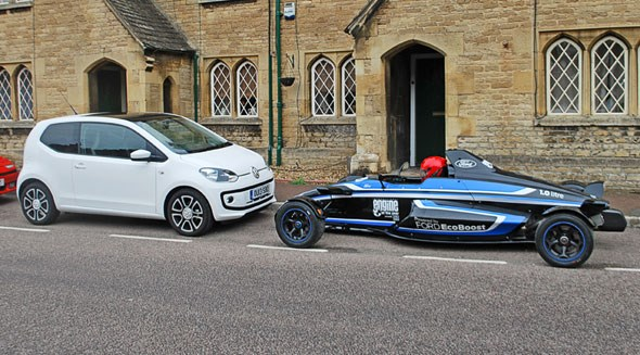 Our VW Up meets a Formula Ford