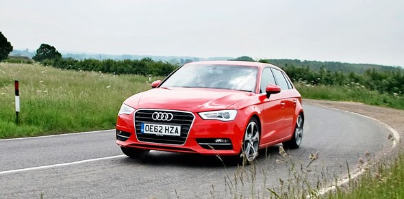 Cornering in our Audi A3 Sportback: much better than it used to be
