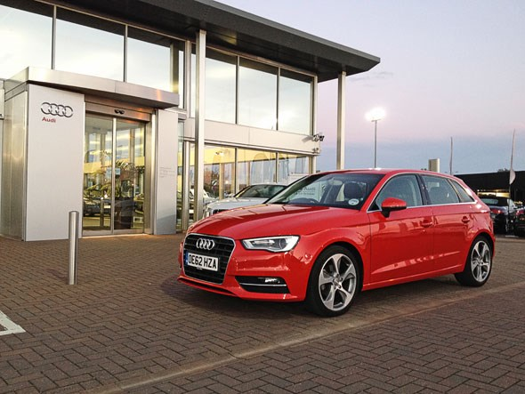 Time to service our Audi A3 Sportback: we visit Peterborough Audi