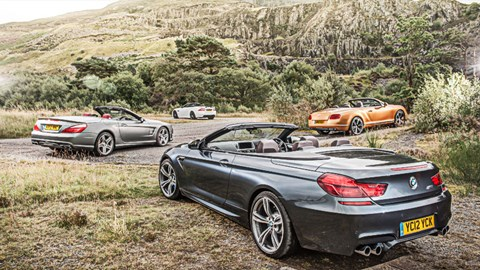 Exceptional Mercedes SL63 Vs BMW M6 Vs Bentley GTC Vs Jaguar XKR S CAR Giant Test