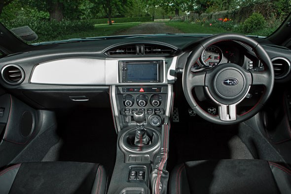 The dashboard of the Subaru BRZ. The Japanese Institute of Plastickiness approved