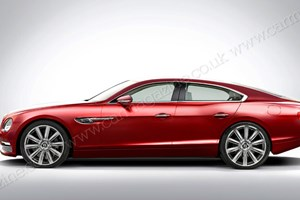 CAR's artist's impression of Bentley's new four-door coupe model