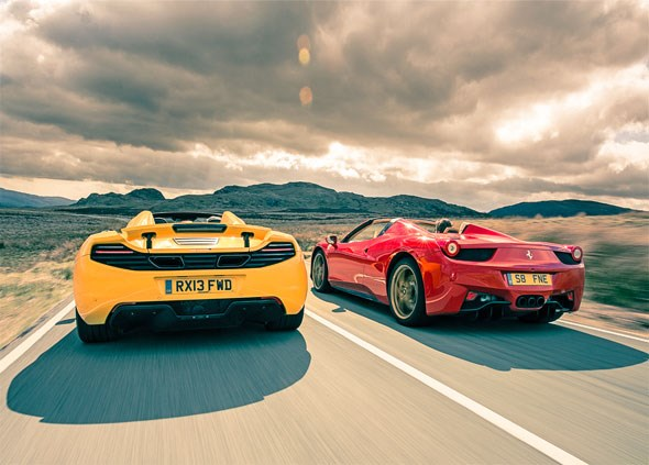 Mclaren 12c Spider Vs Ferrari 458 Spider 2013 Car Giant Test Car