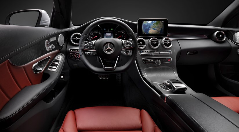 mercedes c class 2014 interior images and technology revealed by car magazine. Black Bedroom Furniture Sets. Home Design Ideas