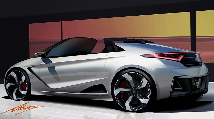 Honda S660 sports car concept 2013 first official pictures by