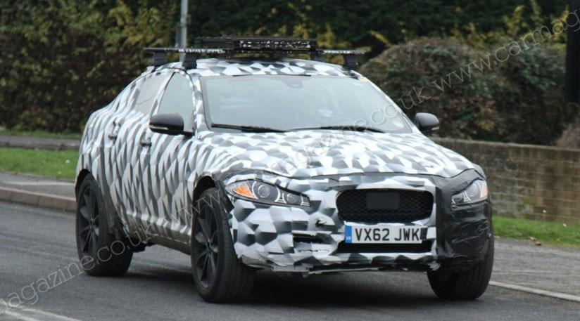 jaguar suv 2016 4x4 mule spied in uk by car magazine. Black Bedroom Furniture Sets. Home Design Ideas