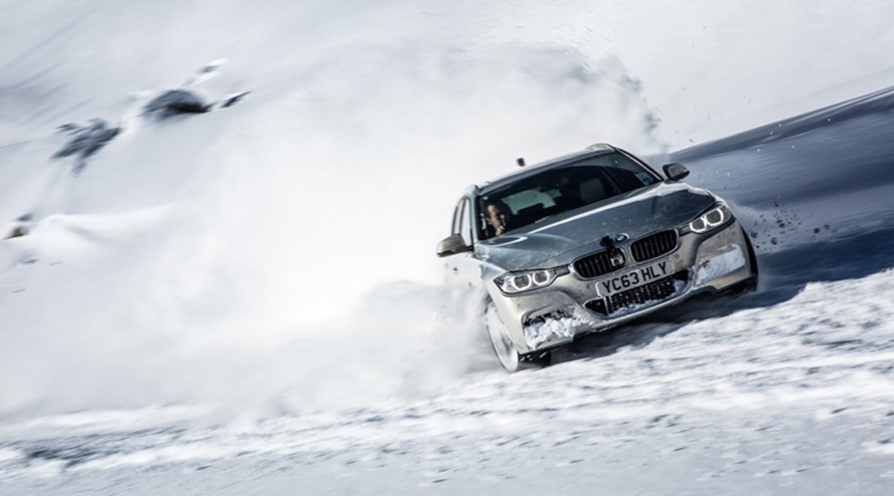 Bmw Vs Winter 330d Xdrive Takes On Alps Ski Slalom Car