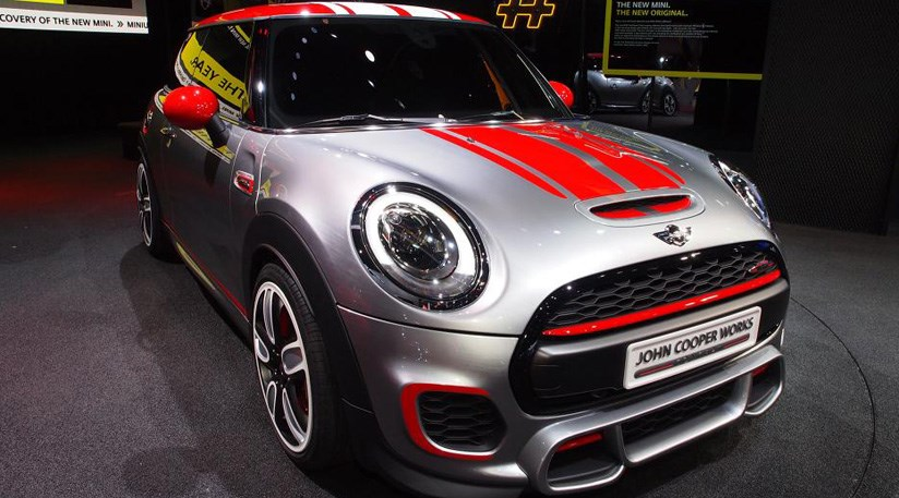 mini john cooper works concept 2014 first official. Black Bedroom Furniture Sets. Home Design Ideas
