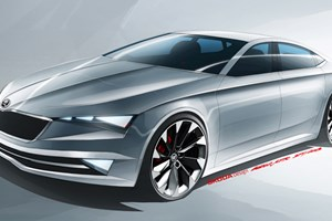 Skoda Vision C (2014) first official sketch