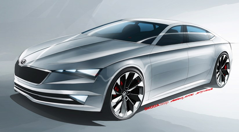 Skoda Vision C 2014 First Official Sketch Car Magazine