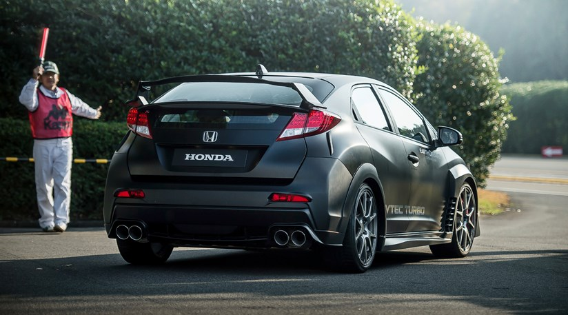 honda civic type r 2014 concept sketch and prototype drive by car magazine