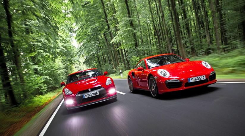 porsche 911 turbo s vs nissan gt-r (2014) review | car magazine
