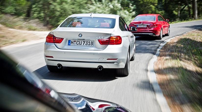 BMW 4-series 435i vs Mercedes E400 vs Audi S5 (2014) review