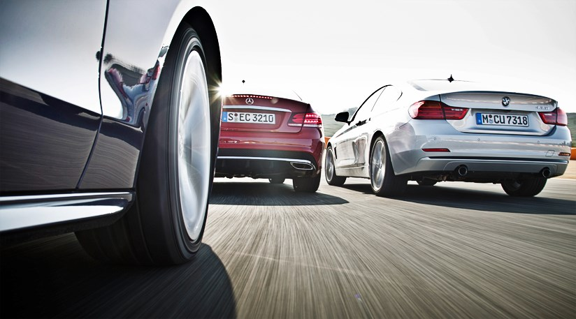 BMW 4-series 435i vs Mercedes E400 vs Audi S5 (2014) review | CAR