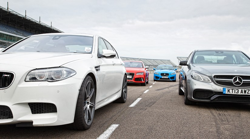 Mercedes Benz Lease >> Audi RS7 vs BMW M5 vs Jaguar XFR-S vs Mercedes E63 AMG S (2014) review | CAR Magazine
