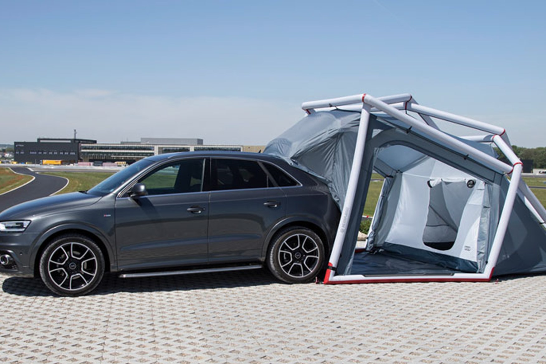 ... too The Audi pop-up tent clips onto the boot of the Q3 & Audi Q3 pop-up tent (2014): perfect for a murder mystery? by CAR ...