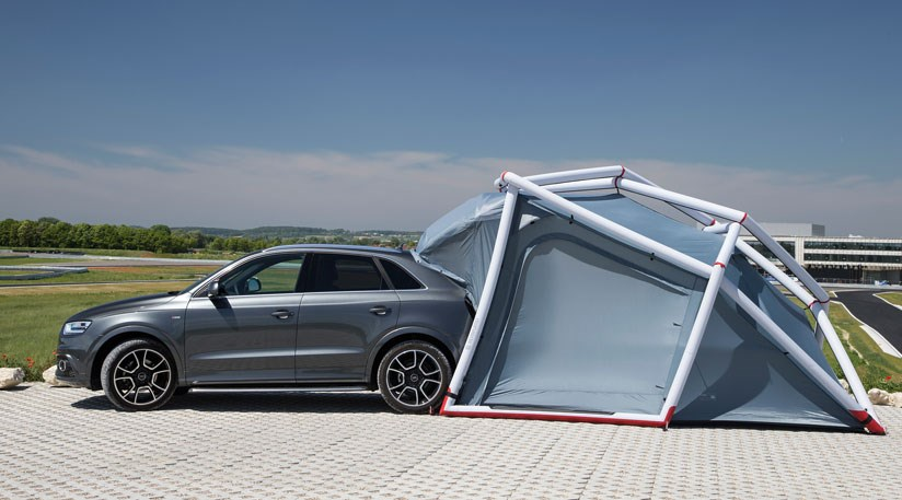 distinguishing itself as one of the stranger car accessories weu0027ve seen in recent years. & Audi Q3 pop-up tent (2014): perfect for a murder mystery? by CAR ...