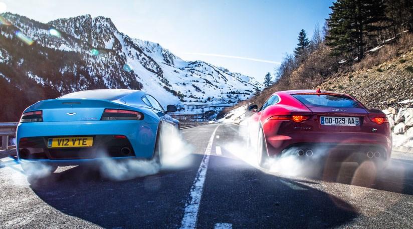 Jaguar F Type R Coupe Vs Aston Martin V12 Vantage S 2014 Car Review Car Magazine
