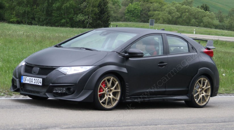 honda civic type r 2015 new spy photos of turbo hot. Black Bedroom Furniture Sets. Home Design Ideas