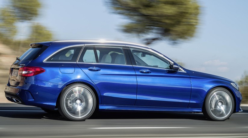 Other Options On The 2014 Mercedes C Class Estate Include Chrome Roof Rails  And Air Suspension