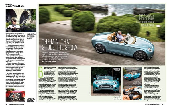 CAR magazine's review of the Mini Superleggera, July 2014 issue of the mag