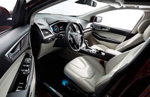 Inside the spacious cabin of the new 2015 Ford Edge