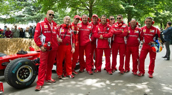 Don't be surprised if you bump into the Ferrari team in the F1 paddock