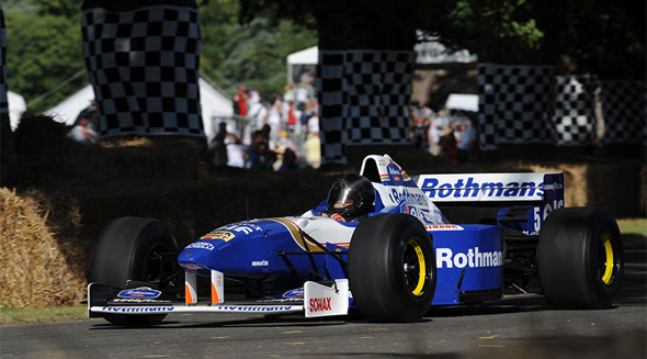 Memories of '96- Damon Hill in his Williams FW18