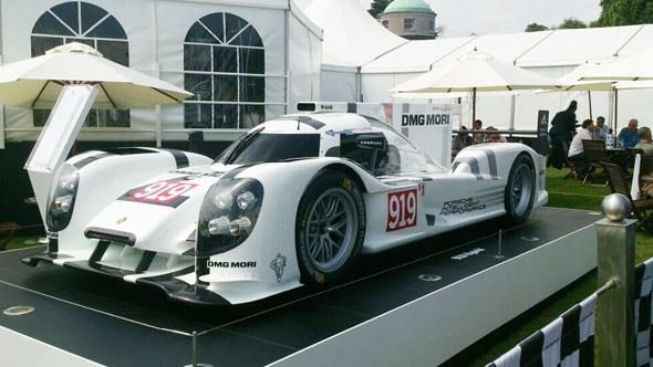 Le Mans challenger, the Porsche 919 Hybrid at Goodwood