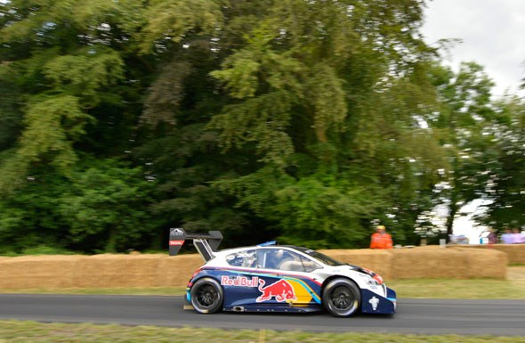 Sebastian Loeb sets the fastest time up the Goodwood hill