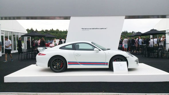 A Martini-liveried Porsche 911 at Goodwood Festival of Speed 2014