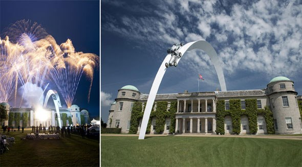 Spectacular fireworks mark official launch of Goodwood sculpture on Thursday evening