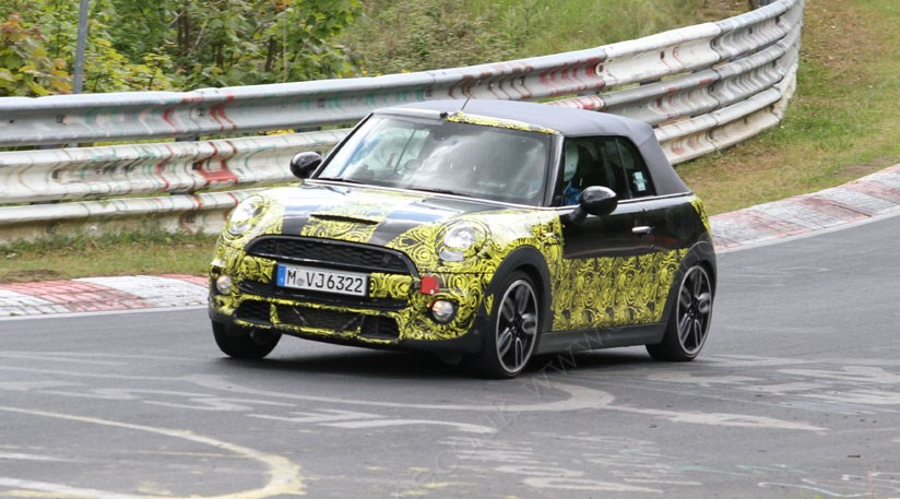 Mini Convertible Cooper S Spied At The Nurburgring