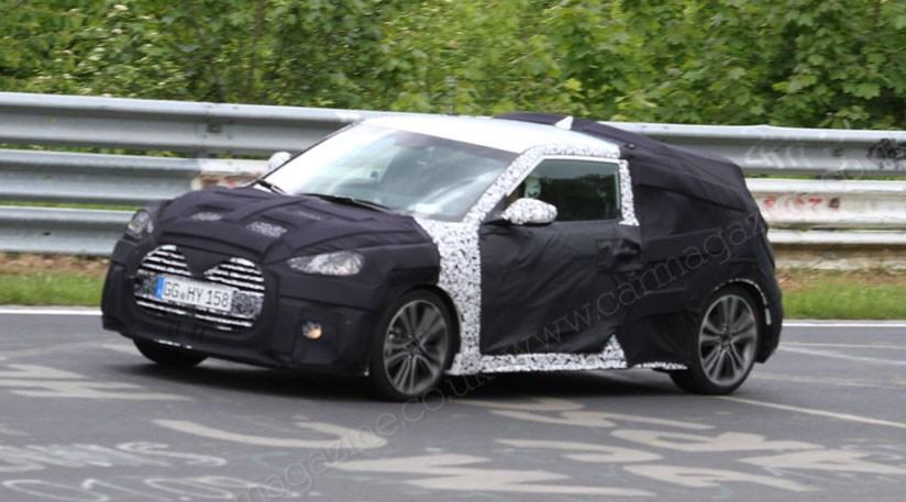 Hyundai Veloster Turbo facelift (2015) spied | CAR Magazine