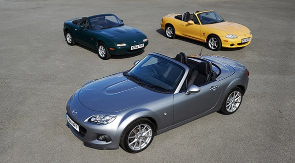 A First, Second And Third Generation MX 5