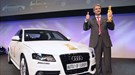 Audi chairman and CEO, Rupert Stadler talks to CAR