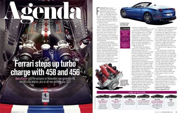 CAR magazine's Ferrari engine strategy scoop in August 2014 issue