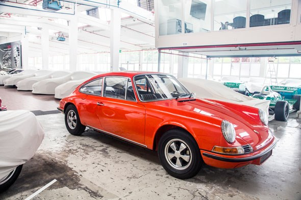 A prototype for a four-seat Porsche 911
