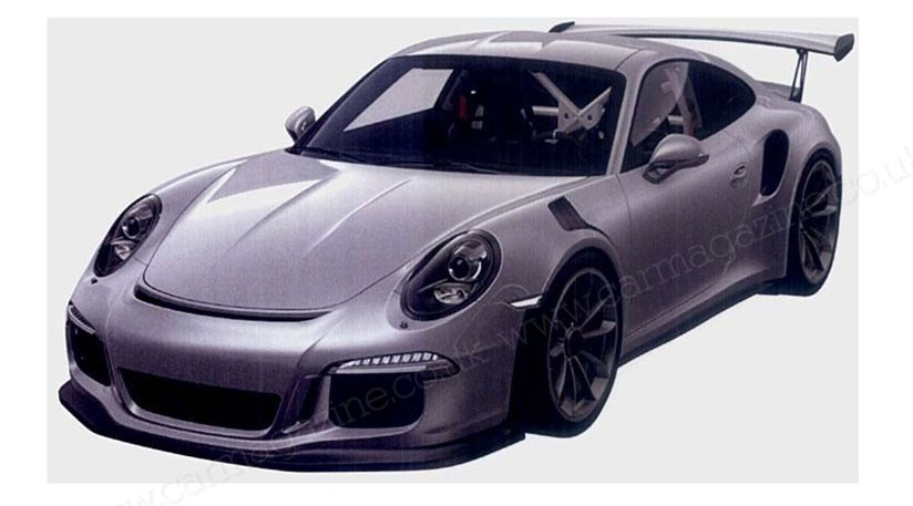 porsche 911 gt3 rs 2015 spilled in patent photos by car magazine. Black Bedroom Furniture Sets. Home Design Ideas