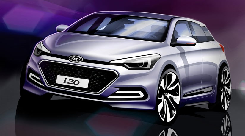 The New 2015 Hyundai I20 Due For A Paris Motor Show Debut In October