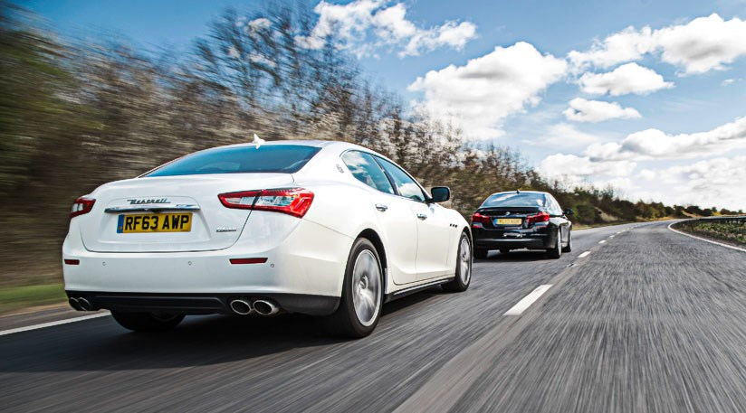 maserati ghibli diesel vs bmw 530d m sport (2014) review | car magazine