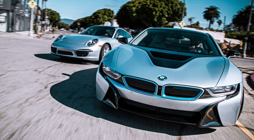 Bmw I8 Vs Porsche 911 Carrera 2014 Twin Test Review Car Magazine